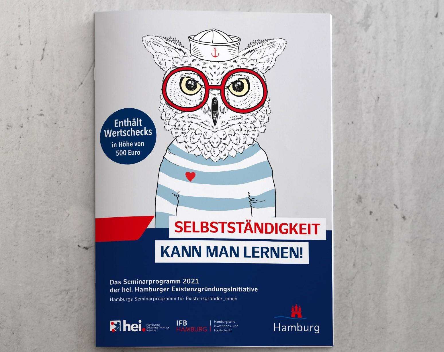 hei.scheckheft mit Seminarprogramm für Gründer_innen aus Hamburg