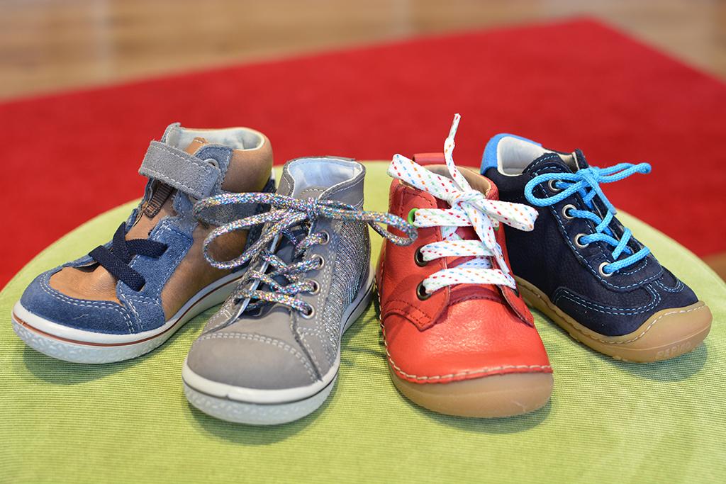 """Schuhe, die glücklich machen: """"Lucky Feet"""" heißt der Kinderschuhladen in Hamburg-Barmbek."""